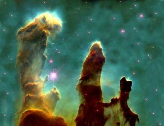 The Pillars of Creation where new stars are formed